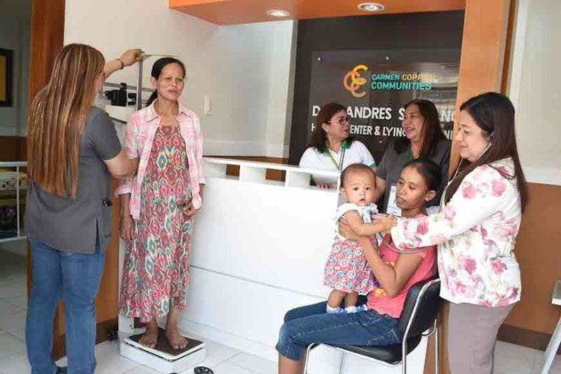 Carmen copper rehabilitates health center