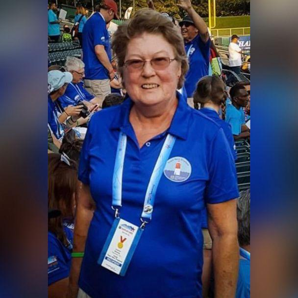 PHOTO: Joanne Mellady, 67, of New Hampshire, pictured in a 2018 photo while competing in the Donate Life Transplant Games of America, died on March 30, 2020. (Courtesy Jean Sinofsky)