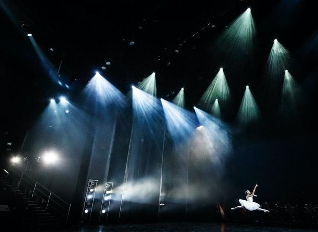A ballerina during a dress rehearsal at Leeds Playhouse