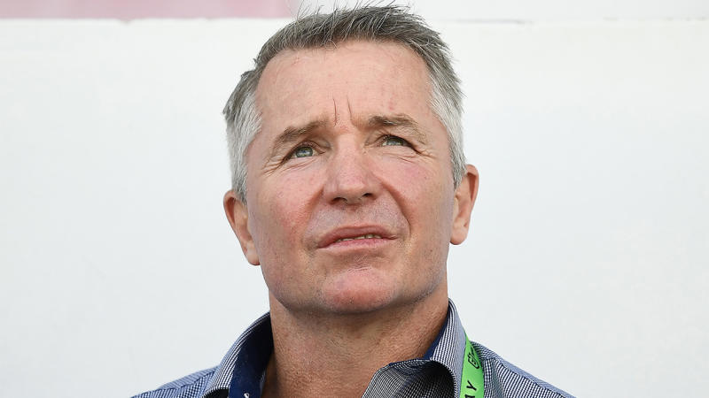 Cowboys head coach Paul Green looking on at the NRL.