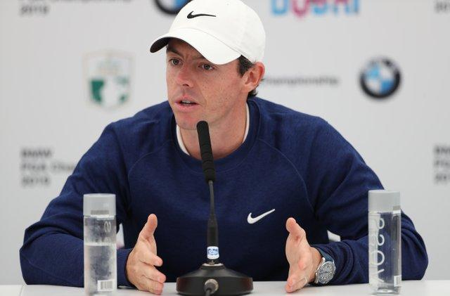 Rory McIlroy spoke of his childhood admiration for Tiger Woods.