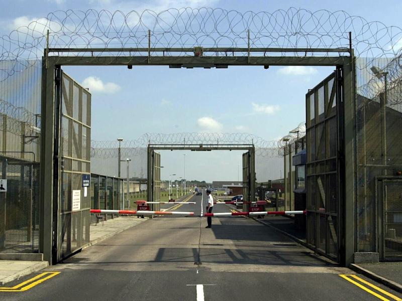 The front gates at the entrance of Maghaberry Prison in Northern Ireland: PA