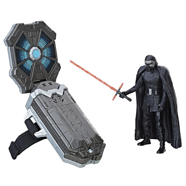 <p>Hasbro's wearable tech activates sounds, phrases, and lights in more than 30 compatible toys. This set comes with an exclusive Kylo figure. $24.99 (Photo: Hasbro) </p>