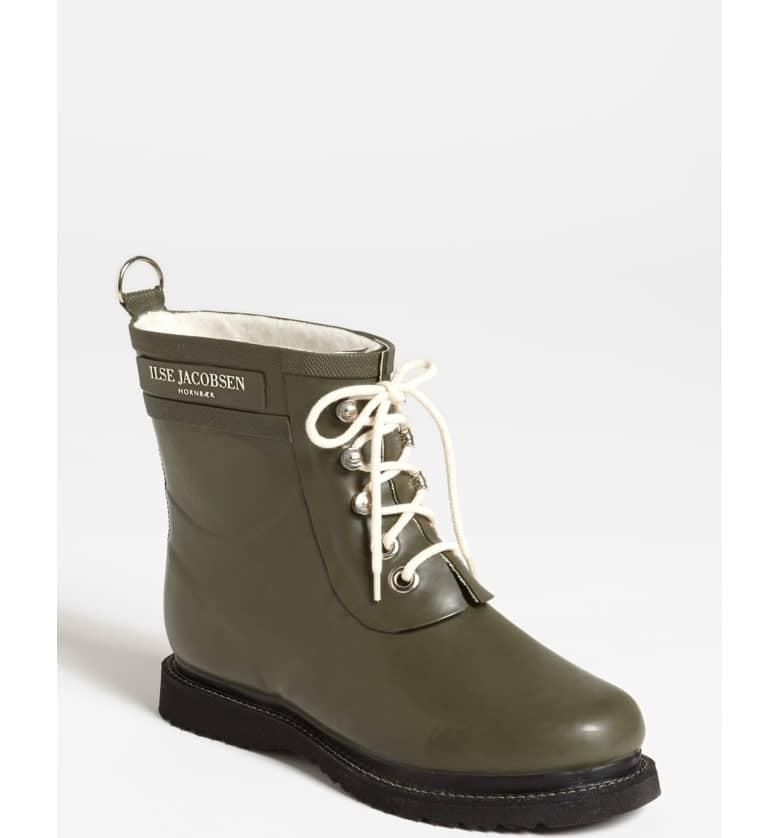 <p>Nobody would ever guess these <span>Ilse Jacobsen Rub Boots</span> ($170) are waterproof. They come in so many cute colors.</p>