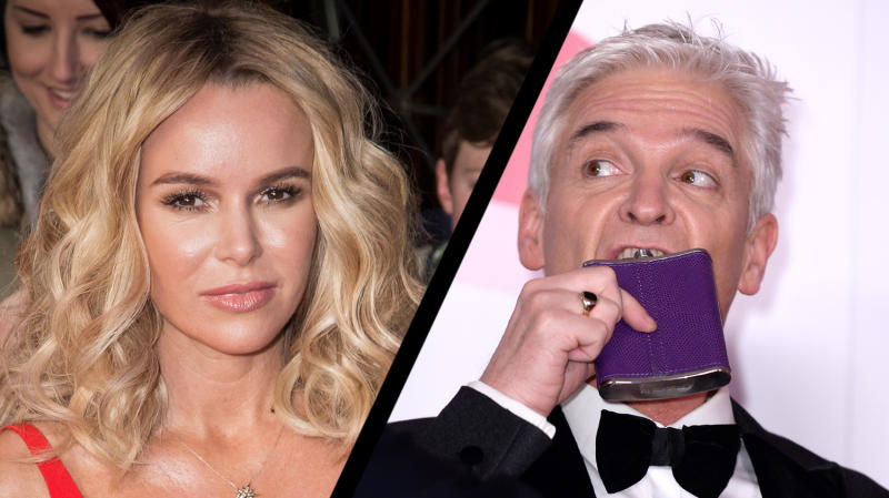 Amanda Holden and Phillip Schofield are said to be caught up in feud (Credit AP/PA)