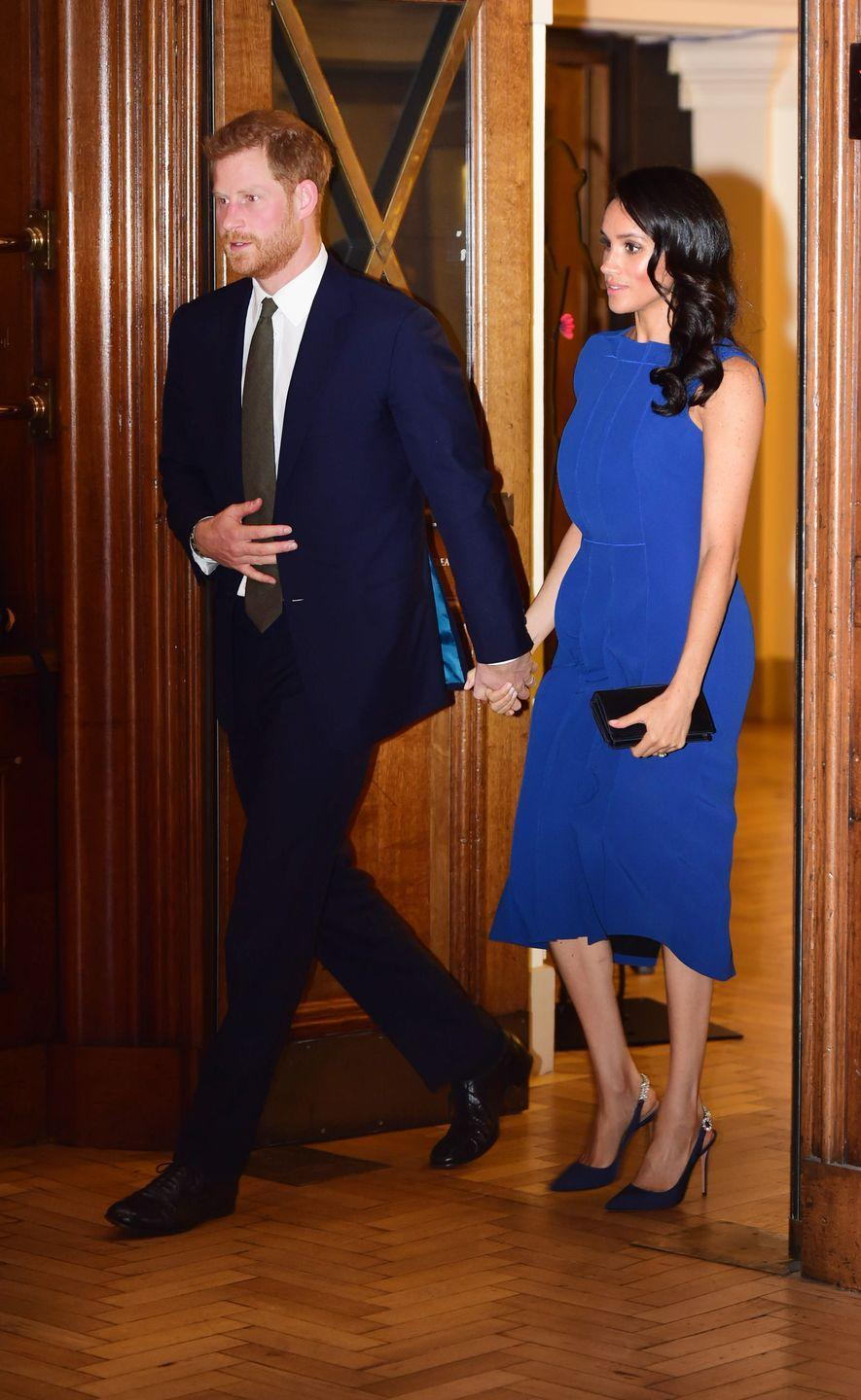 "<p><a href=""https://www.townandcountrymag.com/society/tradition/g22989148/prince-harry-meghan-markle-100-days-to-peace-gala-photos/"" rel=""nofollow noopener"" target=""_blank"" data-ylk=""slk:Harry and Meghan attended an evening of music"" class=""link rapid-noclick-resp"">Harry and Meghan attended an evening of music</a> in honor of the 100th anniversary of the final 100 days of World War I. </p>"