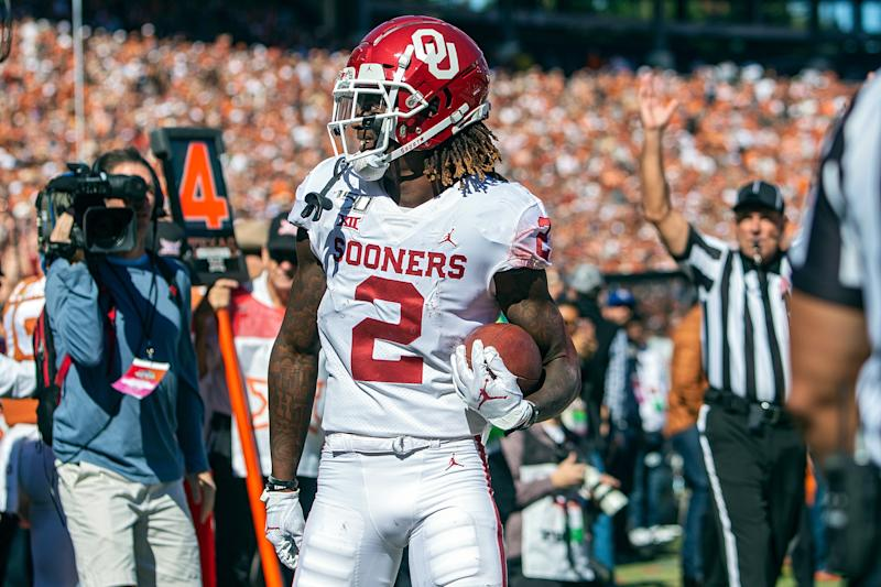 Oklahoma WR Ceedee Lamb was a one-man show against Texas. (Getty Images)