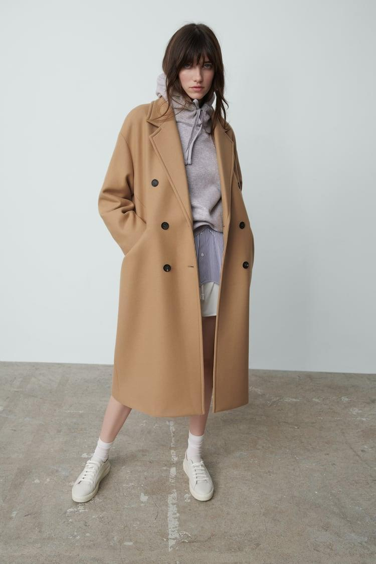 <p>You will wear this <span>Wool Blend Oversized Coat</span> ($199) constantly.</p>