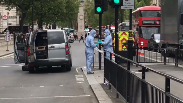 police-inspect-bag-of-knives-from-whitehall-suspect