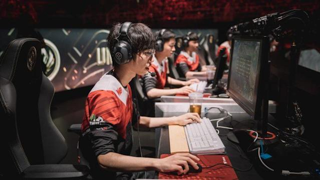 Team WE on stage at MSI (lolesports)
