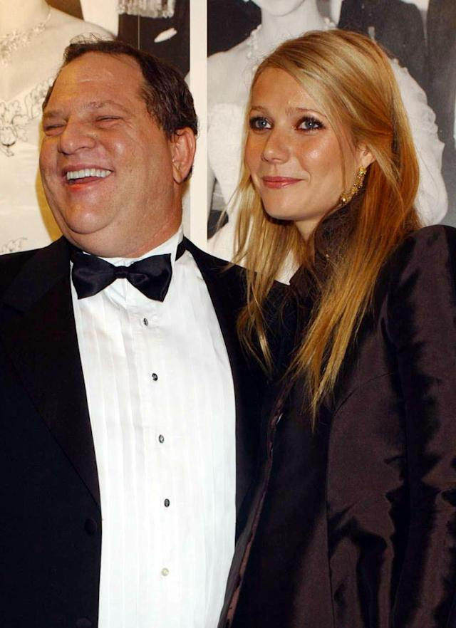 Harvey Weinstein with Gwyneth Paltrow at the National Film Theatre in 2002. (Photo: PA Images/PA Images via Getty Images)