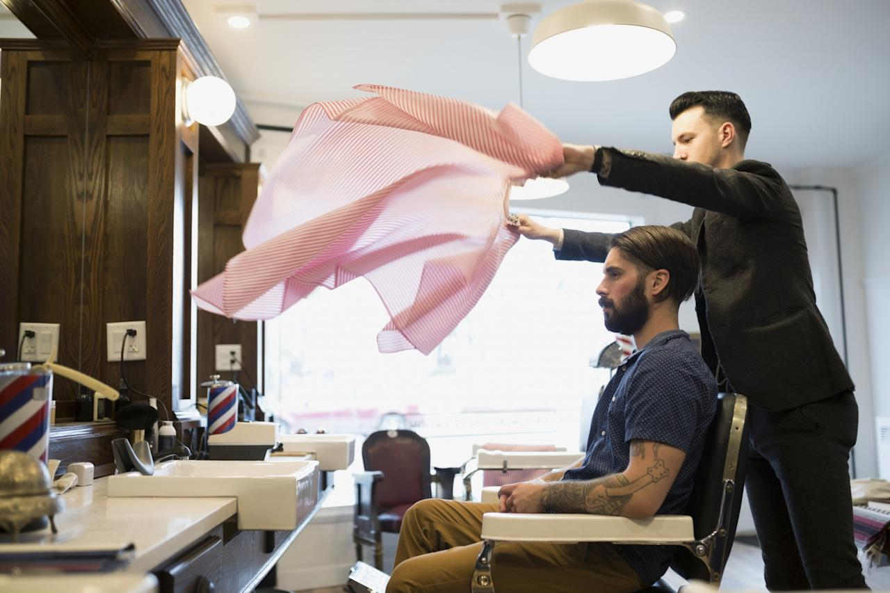 <p>No. 9 lowest-paid job: Hairstylist and barber<br />Average full-time hourly wage: $13.75<br />(Hero Images / Getty Images) </p>