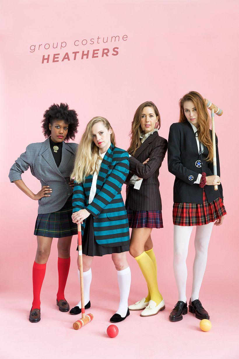 """<p>You and your girls will be ready to rule Westerburg dressed up as Veronica and the Heathers (Duke, Chandler, and McNamara). Croquet, anyone?</p><p><em><a href=""""https://camillestyles.com/design/7-group-halloween-costumes-for-your-squad/"""" rel=""""nofollow noopener"""" target=""""_blank"""" data-ylk=""""slk:Get the tutorial at Camille Styles »"""" class=""""link rapid-noclick-resp"""">Get the tutorial at Camille Styles »</a></em> </p>"""