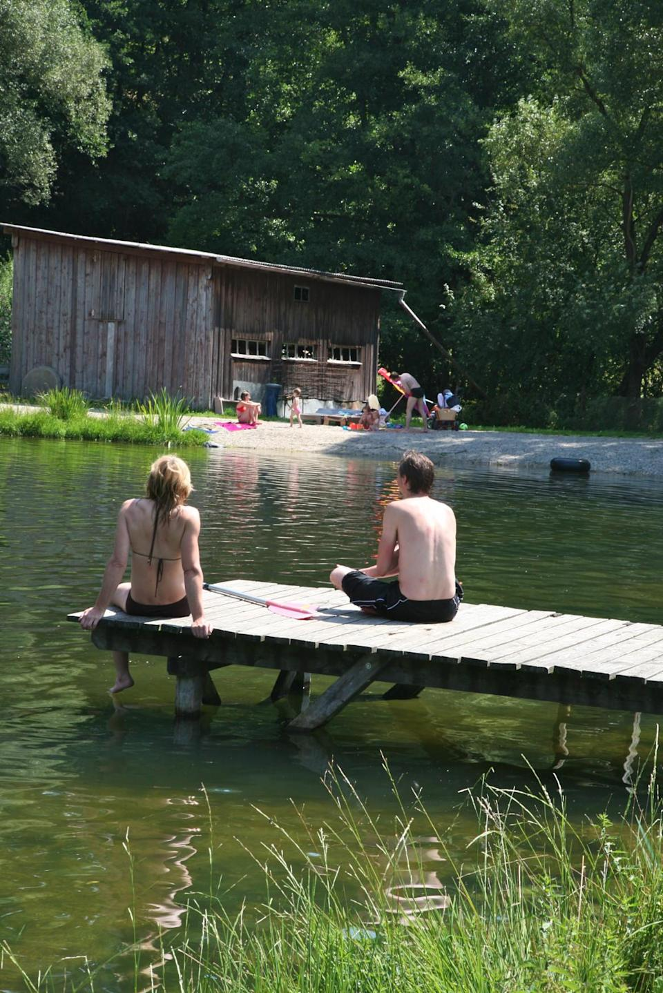 """<p><span>Set in the heart of the Bavarian forest, </span><a href=""""https://coolcamping.com/campsites/europe/germany/bavaria/east-bavaria/1167-adventure-camp-schnitzmuhle"""" rel=""""nofollow noopener"""" target=""""_blank"""" data-ylk=""""slk:this campsite"""" class=""""link rapid-noclick-resp""""><span>this campsite</span></a><span> is surrounded by natural beauty. And yet it has superb facilities including a shower block, kiosk, onsite bar, WiFi and a playground. Little ones will love playing by the river (which runs slow and safe through the campsite), while parents can enjoy the hotel, spa and restaurant next door. A tent and two people from €18.50 (£16). [Photo: Cool Camping]</span> </p>"""