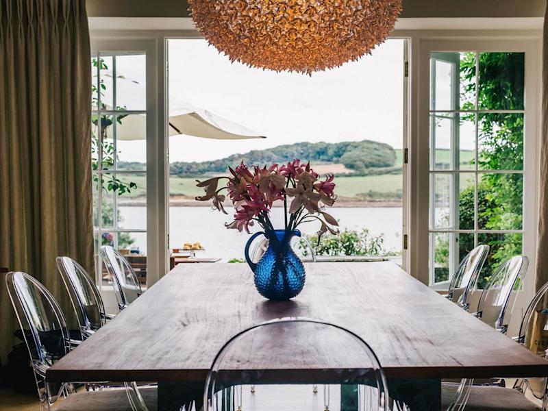 Idyllic views from the dining room (St Mawes Retreats)