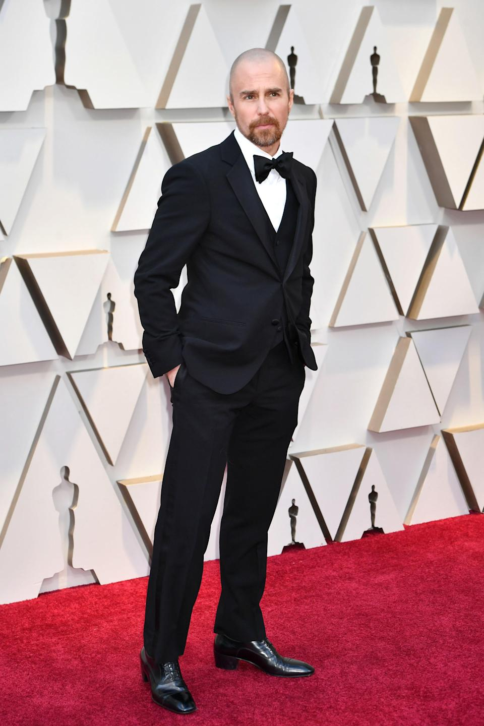 Sam Rockwell in Armani and Christian Louboutin shoes