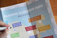 "<p>Take your child's love of reading up a notch with this book-themed scavenger hunt, which includes 25 diverse prompts, including finding out friends' favorites or trying different genres.</p><p><em><a href=""https://modernparentsmessykids.com/free-printable-reading-scavenger-hunt/"" rel=""nofollow noopener"" target=""_blank"" data-ylk=""slk:See more at Modern Parents Messy Kids »"" class=""link rapid-noclick-resp"">See more at Modern Parents Messy Kids »</a> </em></p>"