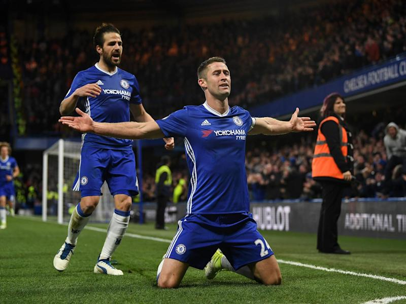 Cahill restored calm just before half-time (Getty)