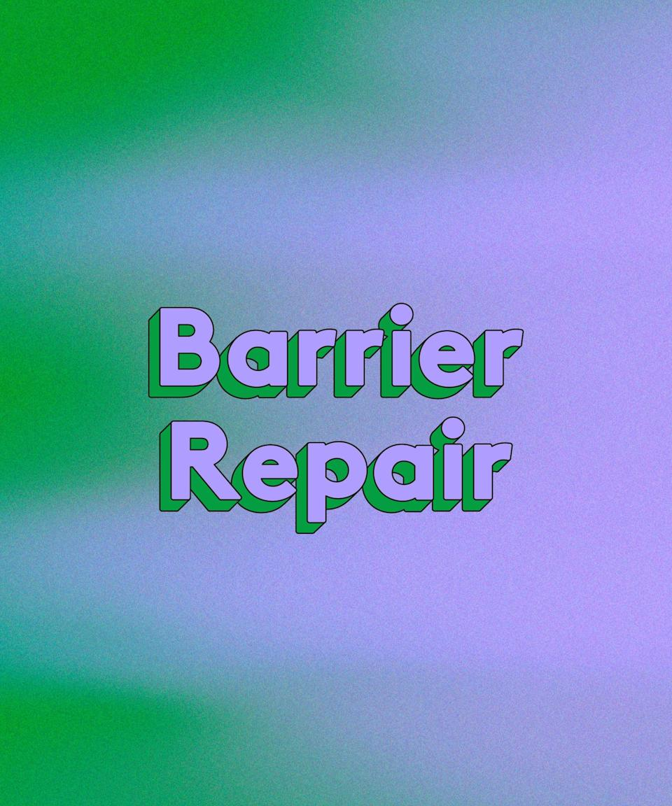 <h3>Barrier Repair</h3><br>Consider the outermost layer of the epidermis, the stratum corneum, the bodyguard of your body's largest organ. This is your skin's barrier, protecting what lies underneath from environmental toxins while holding in essential moisture. When compromised by variables like over-cleansing, external factors (say, constant wearing of face masks), and the natural ageing process, that barrier loses its fighting power, leaving skin more prone to redness and irritation.<br><br>While no product can rebuild your stratum corneum from scratch, certain key ingredients can help reinforce the moisture barrier for happier, healthier, safer skin.