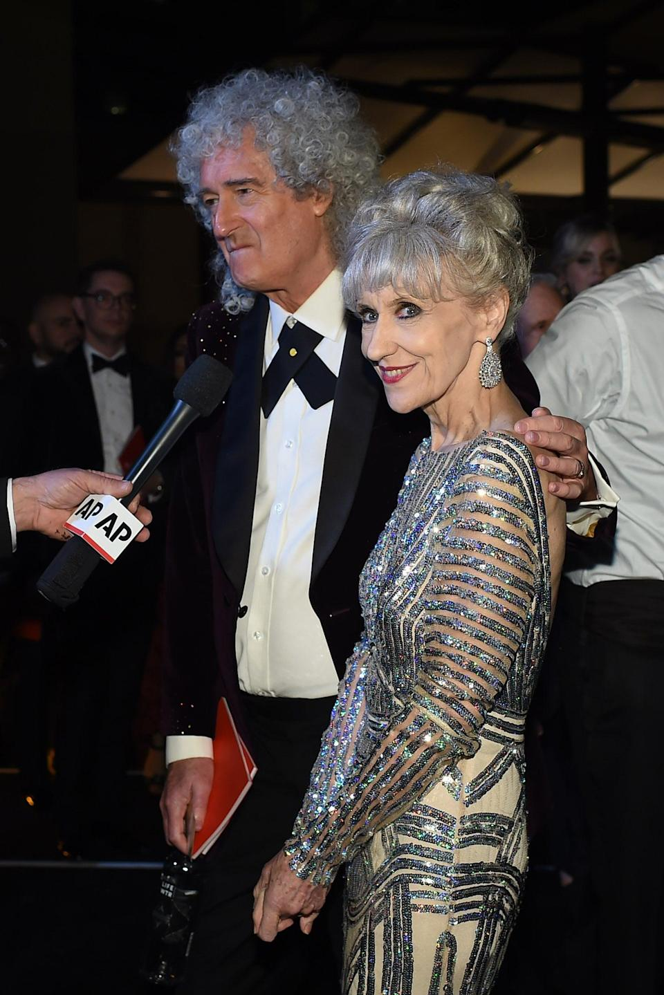 May and Anita Dobson (AFP/Getty Images)