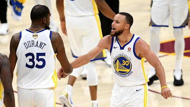 "Kevin Durant's game-winning performance in the NBA Finals was described as ""amazing"" by his Golden State Warriors teammate Stephen Curry."