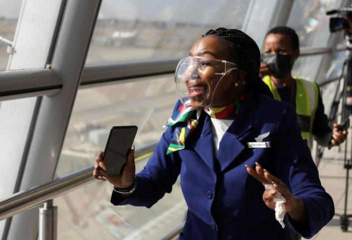 South Africa's national airline SAA restarts flights after year-long hiatus in Johannesburg