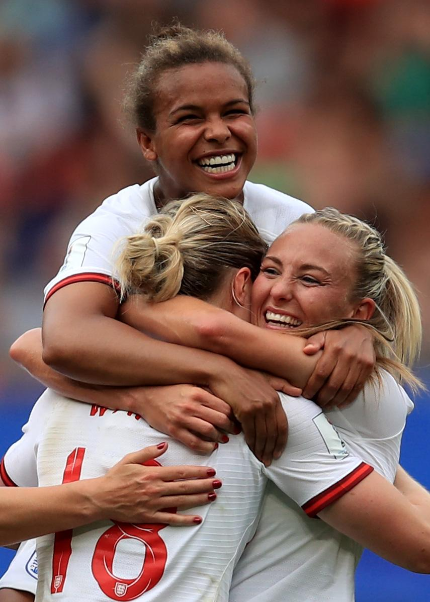 During the 2019 FIFA Women's World Cup France Round Of 16 match between England and Cameroon at Stade du Hainaut on June 23, 2019 in Valenciennes, France. (Photo by Marc Atkins/Getty Images)