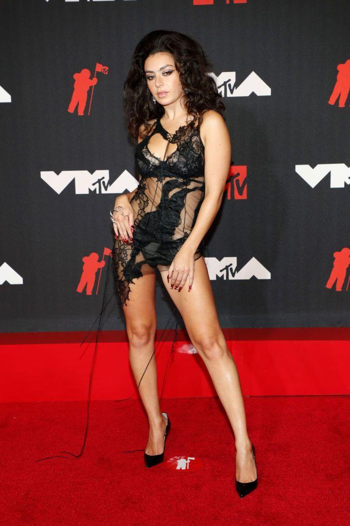<p>The British pop star wore a deconstructed dress by Shawna Wu with Karma El Khalil jewellery.</p>