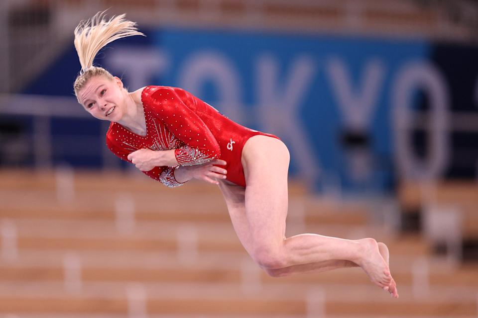 <p>She recently unveiled a triple-twisting double layout on floor, a skill no female gymnast has ever attempted in competition.</p>