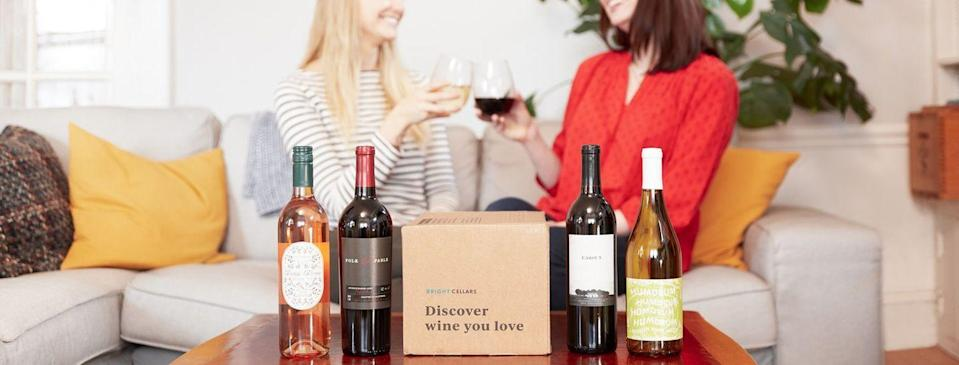 """<p><a class=""""link rapid-noclick-resp"""" href=""""https://go.redirectingat.com?id=74968X1596630&url=https%3A%2F%2Fwww.brightcellars.com%2F&sref=https%3A%2F%2Fwww.delish.com%2Fentertaining%2Fwine%2Fg31669054%2Fwine-subscription%2F"""" rel=""""nofollow noopener"""" target=""""_blank"""" data-ylk=""""slk:BUY NOW"""">BUY NOW</a> <strong><em>$80 per month for 4 bottles</em></strong></p><p>Bright Cellars is another quiz-forward wine subscription company. You're asked to answer a bunch of questions, ranging from ones about candy to red versus white, then you're given a resulting four bottles. You can't pick and choose your wine, but you're allowed to make some swaps. For example, if Bright Cellars recommends a Pinot Noir that you're just not feeling, you simply click """"I don't like Pinot Noir,"""" and they'll replace it with another bottle. <a href=""""https://www.brightcellars.com/"""" rel=""""nofollow noopener"""" target=""""_blank"""" data-ylk=""""slk:Right now"""" class=""""link rapid-noclick-resp"""">Right now</a>, the company's offering 50 percent off your first box.</p>"""