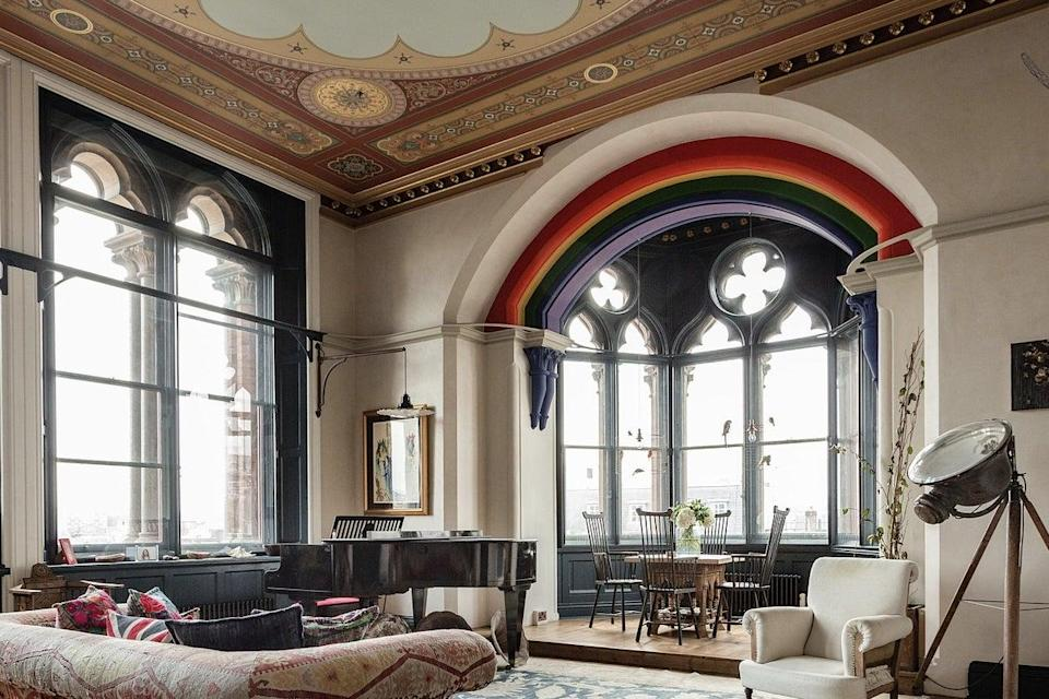 The £4.6m corner apartment overlooks the rooftops of King's Cross on two sides (UK Sotheby's International Realty)