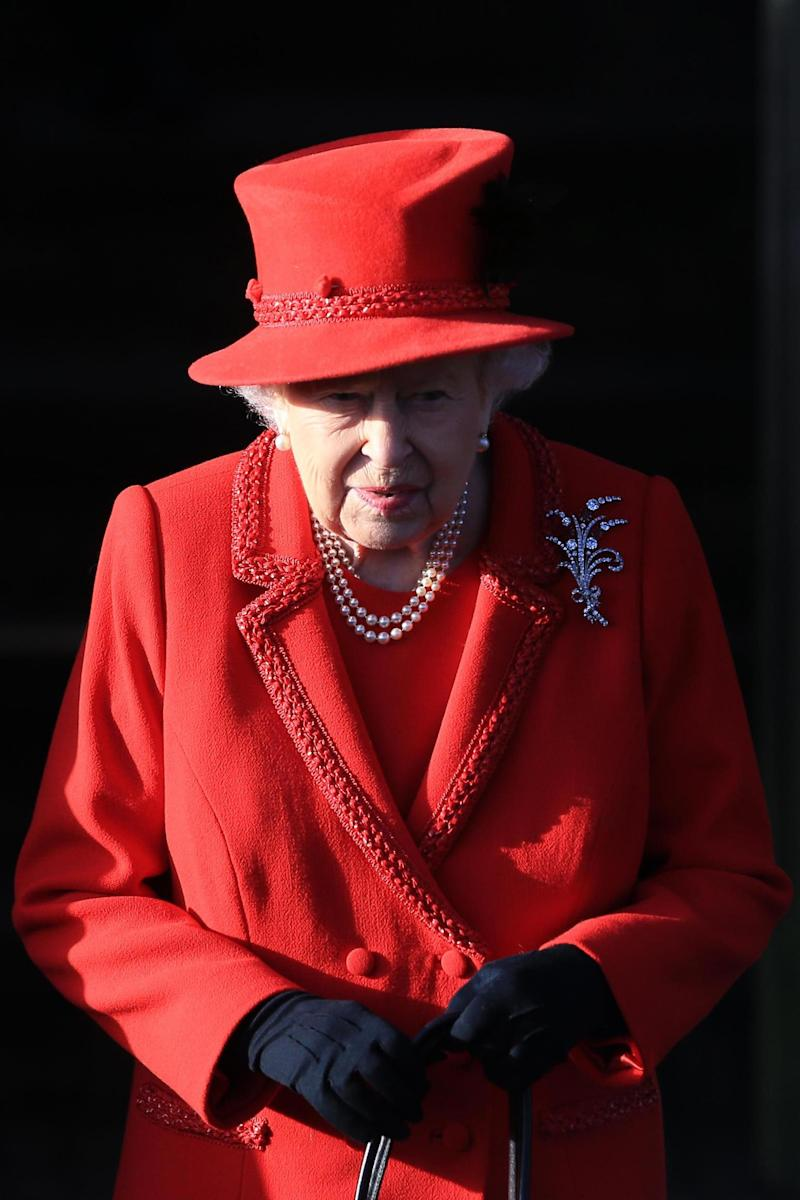The Queen wore a red coat and hat(Getty Images)
