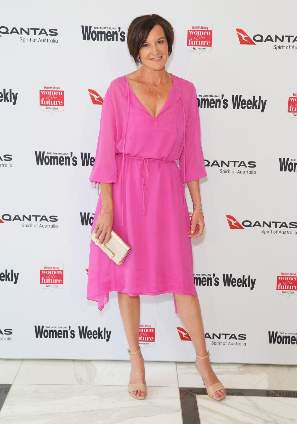 Cassandra Thorburn has stepped out looking pretty in pink at the Women in Future Awards. It is her first public appearance since her split from Karl. Source: Getty