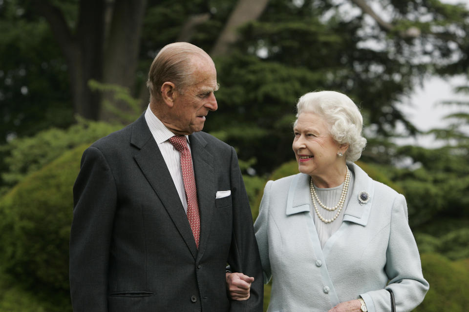 In this image, made available November 18, 2007, HM The Queen Elizabeth II and Prince Philip, The Duke of Edinburgh re-visit Broadlands,  to mark their Diamond Wedding Anniversary on November 20.