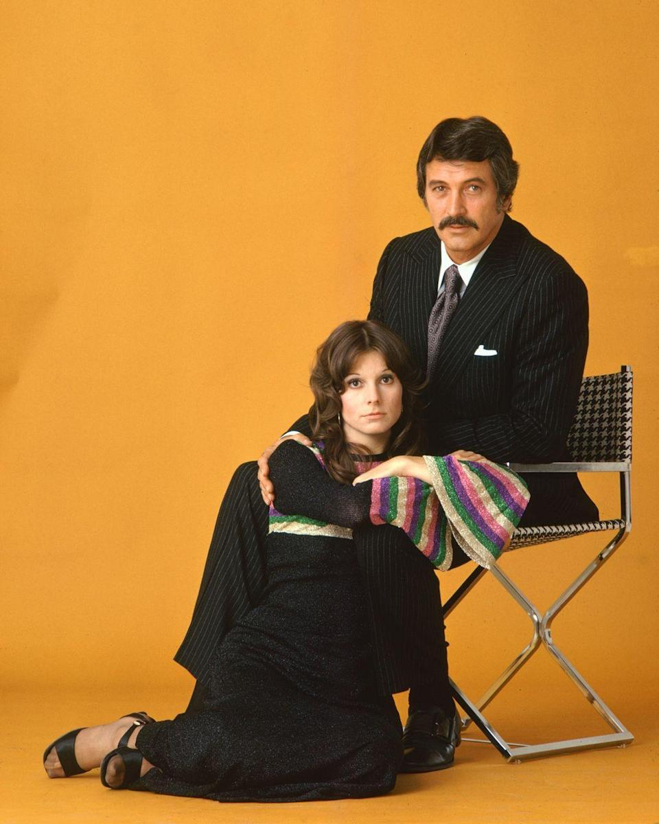 <p>Hudson posed with actress Susan Saint James in a publicity shot for their television show, <em>McMillan and Wife</em>. The show was Hudson's most successful television series, running from 1971 to 1977. </p>