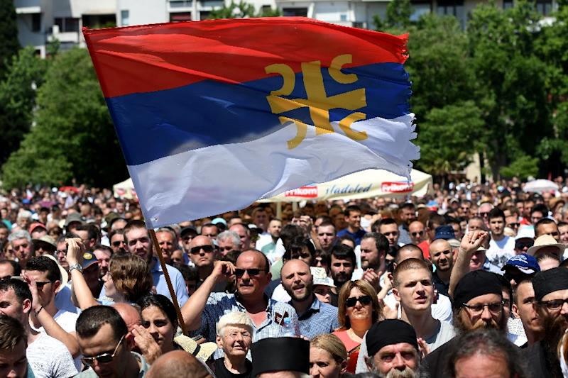 Thousands protested against the draft law which would see all religious facilities owned by Montenegro before 1918, when it ost its independence, become state property