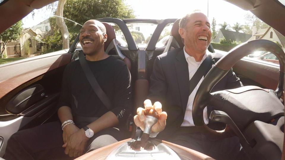 <p> <strong>UK:</strong> Netflix </p> <p> <strong>US:</strong> Netflix </p> <p> These short but sweet episodes follow Jerry Seinfeld as he meets up with other famous comedians for a coffee and a laugh-filled drive in an interesting car. It's 15 minutes, it's simple, but with the calbre of comedian he takes out on his jaunts - think Tina Fey, Steve Martin, Eddie Murphy and even, um, Barack Obama - it's packed with humour. What's more there are 11 seasons so there's plenty to binge watch right now. </p>