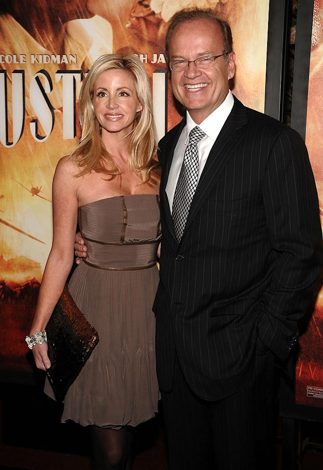 """<a href=""""http://movies.yahoo.com/movie/contributor/1800020246"""">Kelsey Grammer</a> and wife Camille at the New York City premiere of <a href=""""http://movies.yahoo.com/movie/1809878217/info"""">Australia</a> - 11/24/2008"""