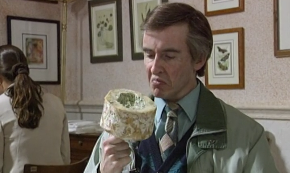 Steve Coogan smells the cheese as Alan Partridge. (BBC)