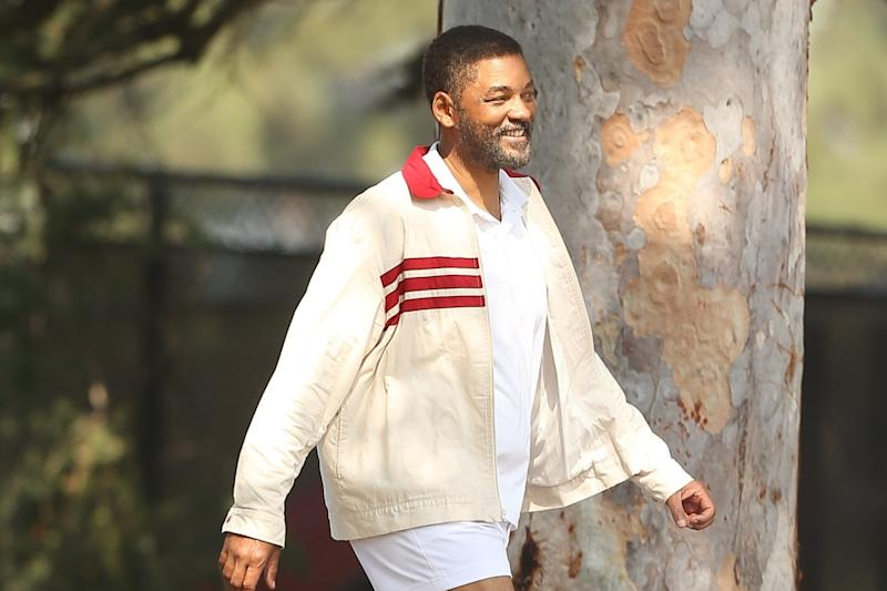 Will Smith pictured on set of Serena Williams father biopic King Richard