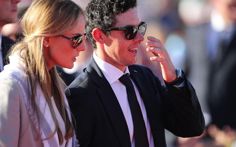 Rory McIlroy and his fiance Erica Stoll - Credit: PA