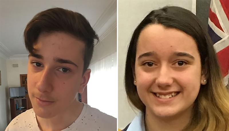 Jack, 15, and Jennifer Edwards, 13 were killed in the attack. Source: AAP