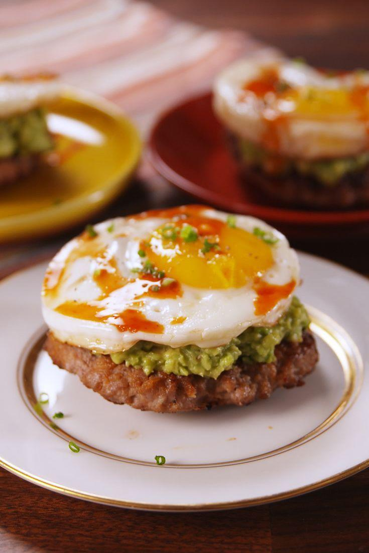 """<p>Lose the bread but keep the flavor with these paleo breakfast stacks.</p><p>Get the recipe from <a href=""""/cooking/recipe-ideas/recipes/a54408/paleo-breakfast-stacks-recipe/"""" data-ylk=""""slk:Delish"""" class=""""link rapid-noclick-resp"""">Delish</a>.</p>"""
