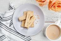 """Traditional shortbread gets an added depth of flavor with the use of brown butter. This recipe results in a rectangular-shaped cookie, but feel free to cut the dough into any shape you like while it's still warm. <a href=""""https://www.epicurious.com/recipes/food/views/3-ingredient-brown-butter-shortbread?mbid=synd_yahoo_rss"""" rel=""""nofollow noopener"""" target=""""_blank"""" data-ylk=""""slk:See recipe."""" class=""""link rapid-noclick-resp"""">See recipe.</a>"""