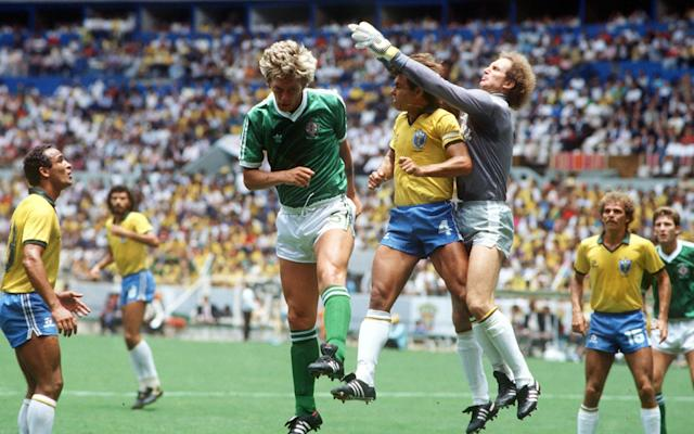 "Thirty one years have passed since Northern Ireland last graced a World Cup finals but, for Nigel Worthington, one image remains seared into his memory. Brazil were the opponents at the Jalisco Stadium in Guadalajara and the then 24-year-old Sheffield Wednesday defender was waiting anxiously in the tunnel, ready to step out into the unrelenting midday Mexican heat for the biggest game of his life, when he spotted a plume of smoke nearby. ""We're all lined up on either side of the tunnel, the nerves are going and you're looking across at these Brazil players, who all look like such fantastic athletes, and you're thinking, 'This is going to be tough',"" Worthington recalled. ""And then I noticed Socrates just leaning with his elbow against a wall smoking a cigarette. This is like five minutes before kick-off. We're there thinking, 'We've got our work cut out here' and Socrates is just stood there, casual as you like, puffing away, looking like he didn't have a care in the world. ""Still to this day I can picture that scene in my mind. When you're going into a big World Cup game and you've got the audacity to stand in the tunnel smoking a cigarette moments before kick-off you've got to say you're some player. He certainly wasn't like the blokes in the green and white shirt!"" Northern Ireland were beaten 3-0 that day in a game best remembered for one of the most iconic World Cup goals, when Josimar sent a 35-yard strike fizzing past goalkeeper Pat Jennings, who was making his 119th and final international appearance on his 41st birthday. It was the last taste of a World Cup for Northern Ireland but that will all change if Michael O'Neill's side beat Switzerland in their World Cup play-off, the first leg of which takes place in Belfast's Windsor Park on Thursday, to reach next summer's tournament in Russia. The stakes are huge, and listening to members of the 1986 squad recount their stories from Mexico, the experience is something players carry with them for a lifetime and an occasion O'Neill and his squad will be desperate to savour for themselves. Jimmy Nicholl straddles both eras. A tough tackling right back for Billy Bingham's side, the former Manchester United defender now serves as one of O'Neill's trusted backroom lieutenants and still doubles as the camp's resident comedian. In Mexico, Nicholl revelled in the unofficial role of ""entertainment officer"". If wee Zico is desperate to have my shirt, I suppose he can have itJimmy Nicholl Jimmy is the funniest man I've ever met,"" John O'Neill, a centre-half in Bingham's side. ""In those days you had very little to do other than entertain yourself and he'd give us these cryptic clues to football teams. So a dark pond, for example, would have been Blackpool. He was running out of teams the longer the tournament went, though, and had to get more creative. So one day he says, 'Lads, which team is a kick in the b-------?' For 10 or 15 minutes the lads are there wracking their brains but no one could come up with it. 'Jimmy, we give up, what's the answer?' 'Wrexham!'. Not long after that, we had a team meeting. Billy was fair but he hated you being late for team meetings so we're all there except Jimmy. Our physio John McVey was sent off to find him so John spots Jimmy in one of the phone boxes in the foyer of the hotel. He's waving to Jimmy, finally attracts his attention and says 'Jimmy, team meeting, now!' And Jimmy replies, 'Give us a clue, John, what division are they in?' He thought John was giving him a cryptic clue!"" Nicholl did not have the monopoly on laughs, though. One story former striker Billy Hamilton tells still evokes chuckles from players whenever it gets an airing. ""I saw something moving through all the shrubbery near our apartment in Mexico so I called Gerry Armstrong over,"" Hamilton said. ""This animal must have been about four feet long and had teeth like razors and a big pointed snout. 'Can we catch it?' I said. Gerry could speak Spanish so he got over the security guard, who caught the animal and we tied a sock tie around the thing's mouth. ""Then we opened the patio next door where Martin O'Neill, Norman Whiteside and all the boys were playing cards and lobbed the animal across the table. It sent all the money and cards everywhere and landed in Norman Whiteside's lap. Martin was on top of a wardrobe by that time and Norman was pinned up against the wall by this animal!"" Norman Whiteside challenges Spain's Ricardo Gallego and Antonio Camacho for the ball Credit: Getty Images For all the practice jokes, though, there were also moments of great compassion. Bingham had taken his players on a two-week high altitude training camp in Albuquerque, New Mexico before the tournament in order to prepare the squad for the conditions they would face in Guadalajara and Zapopan, where they would first play Algeria and Spain. But the mood darkened when news came through that McIlroy's mum, Essie, had died tragically of a heart attack aged just 63 and the team captain was booked on the first flight home the next day. ""When I found out I was obviously devastated,"" the former Manchester United midfielder said. ""Jimmy Nicholl came into my room and said, 'Come on Mac, tonight we're going for a drink'. There was so much security around the hotel that, as far as I was concerned, you just couldn't get out. But Jimmy had somehow managed to find this hole in a fence and there was a hotel not far away so me, him and my other big pal Norman Whiteside went there and the three of us just got absolutely bladdered. We didn't say a lot to be fair that night. They got me back to the hotel and I got the early flight back the next morning."" McIlroy admits he came close to staying at home. ""It was out of the blue because my father was dying from throat cancer at the time so when I then found out my mum had died before him, it was a huge shock,"" he said. ""But even though my dad was dying, his only thought when I came home was for me and he said, 'Hey, once your mum is buried, you get back out there'. I'll be honest, I was thinking about staying at home but hearing my dad tell me to get back out there, I only had one intention after that. Don't get me wrong, I had some difficult moments in Mexico but the players were always there for me. The spirit in that team was unbelievable."" 1986 Northern Ireland side 