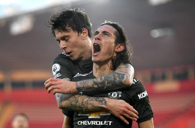 Edinson Cavani inspired United to victory at St Mary's on Sunday