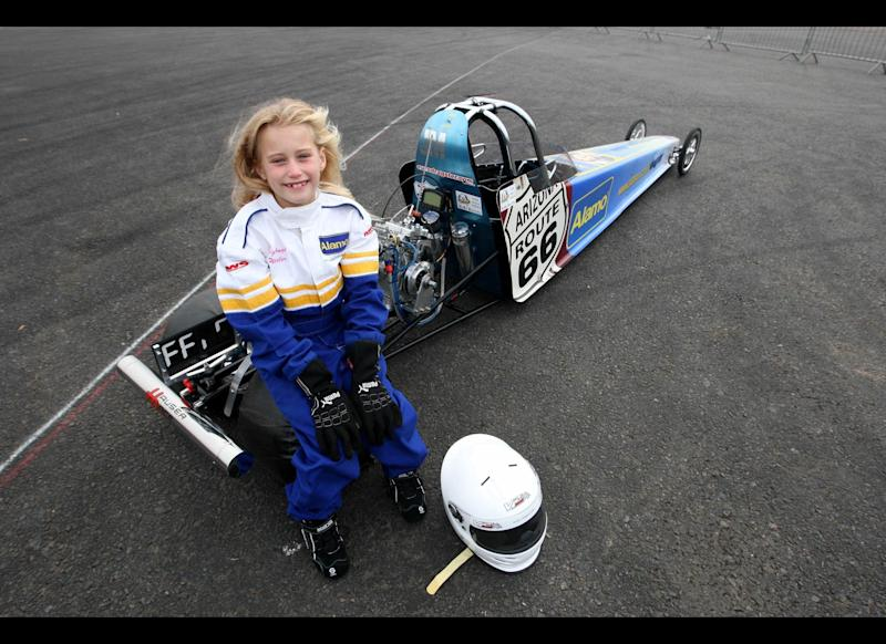 Eight-year-old girl Belle Wheeler has become the youngest drag racer in the world -- just two days after her eighth birthday. The pint-sized dragster then went onto compete against youngsters more than twice her age and qualified for the UK National Finals.