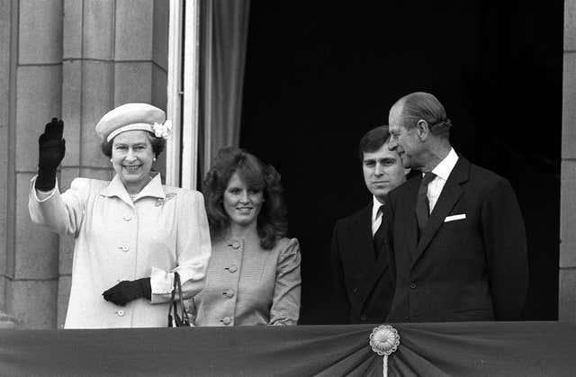 Sarah, Andrew and the Queen and the Duke of Edinburgh