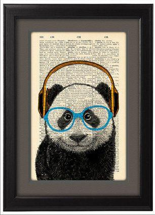 """<a href=""""https://www.etsy.com/ca/listing/182664481/panda-headphones-geekery-panda?ref=br_feed_24&amp;br_feed_tlp=gifts"""" target=""""_blank"""">DICTIONARY Print Poster, $14.05, available at Etsy</a>"""
