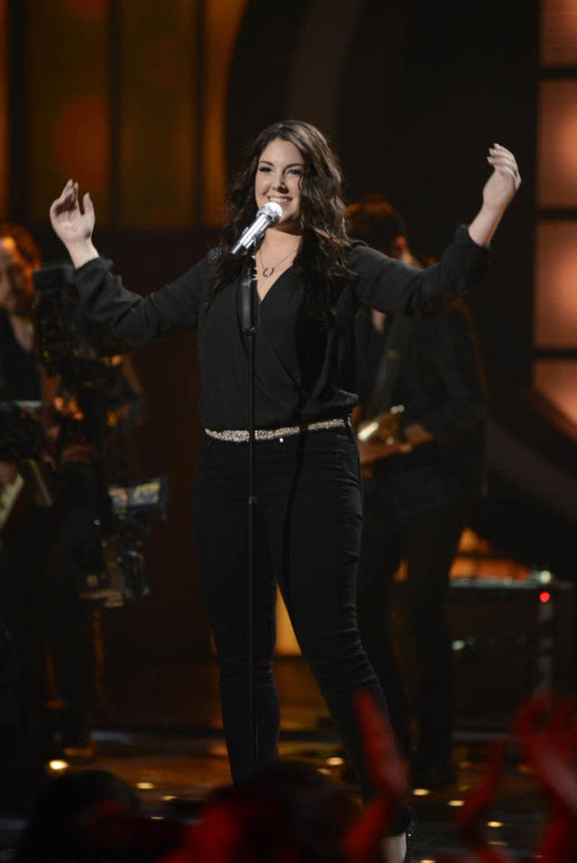 "Kree Harrison performs The Beatles' ""With a Little Help from My Friends"" on the Wednesday, March 20 episode of ""American Idol."""